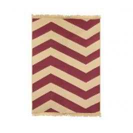 Koberec Zigzag  Red 80x150 cm