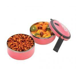 Dvoupatrová dóza na potraviny Pioneer Round Pink