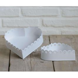 Sada 2 krabic Lace Heart Off White