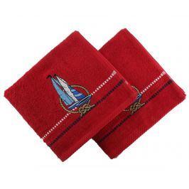 Sada 2 ručníků Ferry Red 50x90 cm