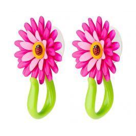 Sada 2 věšáků Flower Power Hook Pink