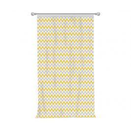 Závěs Chevron Grey Yellow 140x270 cm