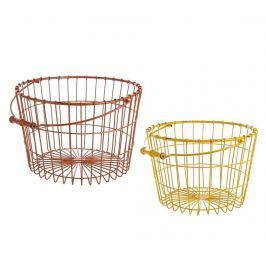 Sada 2 košíků s rukojetí Cute Strings Red & Yellow