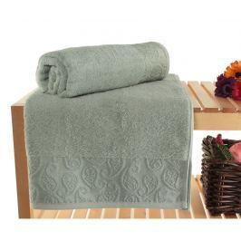 Sada 2 ručníků Pastel Paisley Green 90x150 cm