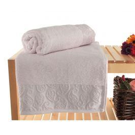 Sada 2 ručníků Pastel Paisley Lilac 90x150 cm