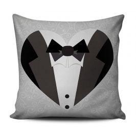Dekorační polštář Groom Suit 43x43 cm