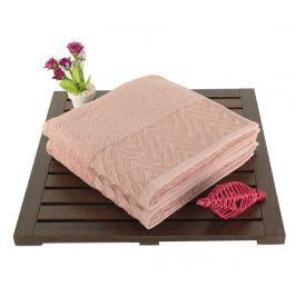 Sada 2 ručníků Persephone Dusty Rose 50x90 cm