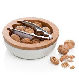 Sada louskáček na ořechy a mísa Pure White