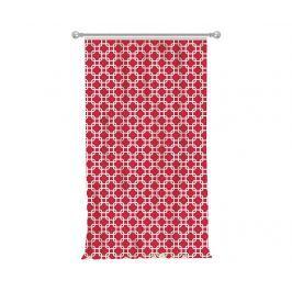 Závěs Squares Red 140x270 cm