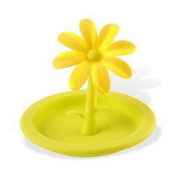 Silikonové víko Livio Flower Green-Yellow