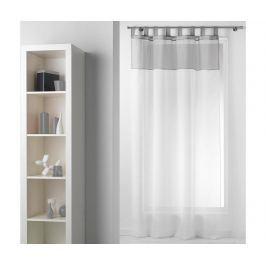Záclona Duo White Grey 140x240 cm