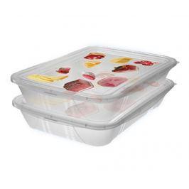 Sada 2 dóz  na potraviny Fresh Rectangular 1.5 L