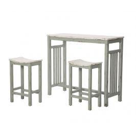 Sada barový stůl a 2 židle Vintage