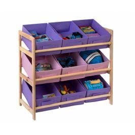 Regál s 9 košíky Lilac and Pink