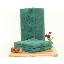 Sada 3 ručníků Agnes Dark Green 50x90 cm