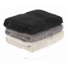 Sada 4 ručníků Shades Black 50x90 cm