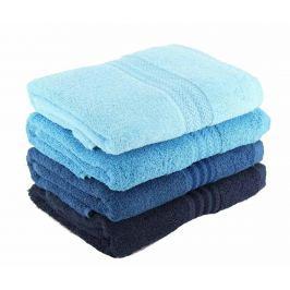 Sada 4 ručníků Shades Blue 50x90 cm