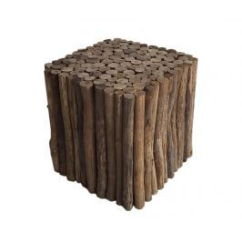 Taburet Holz Square