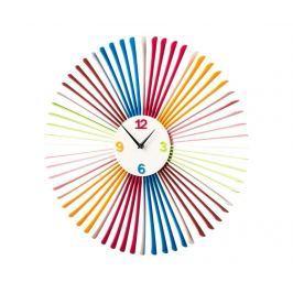 Nástěnné hodiny Colourful Spikes