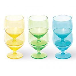 Sada 6 sklenic na vodu Colour 350 ml