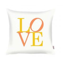 Povlak na polštář Love White Yellow Orange 35x35 cm