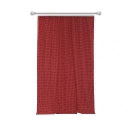 Závěs Polka Dots Red 170x270 cm
