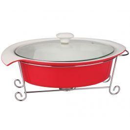 Sada mísa na polévku s poklicí a ohřívač Soup White Red 1.4 L