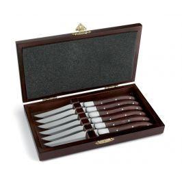 Sada 6 nožů na pečené maso Royal Wooden Box
