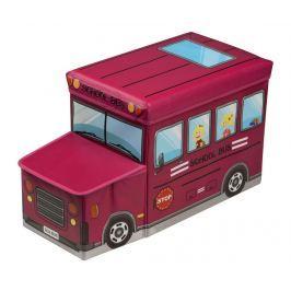 Úložná krabice  s víkem na hračky Red School Bus