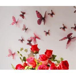 Sada 18 samolepek 3D The Red Butterfly
