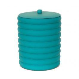 Odpadkový koš s víkem Waves Turquoise 5 L