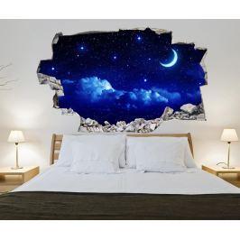 Samolepka 3D Night Sky with Shiny Stars
