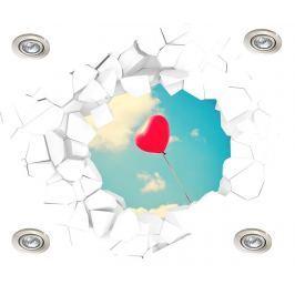 Samolepka 3D na strop Balloon Heart into the Sky