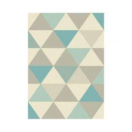 Koberec Focus Triangles Blue 80x150 cm