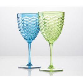 Sada 2 sklenic na stopce Summer Blue and Green 500 ml