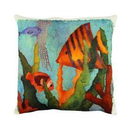 Dekorační polštář Aquarelle Fishes 43x43 cm