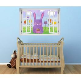 Samolepka 3D The Purple Rabbit