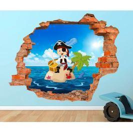 3D samolepka Little Pirate Treasure