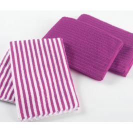Sada 3 kuchyňských utěrek Purple Pattern 40x40 cm