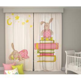 Sada 2 závěsů Book Bunny & Sleepy Rabitt 140x250 cm