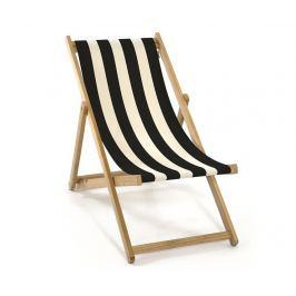 Skládací plážová židle Joy Armless Black Natural