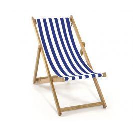 Skládací plážová židle pro děti Joy Armless Striped Blue White