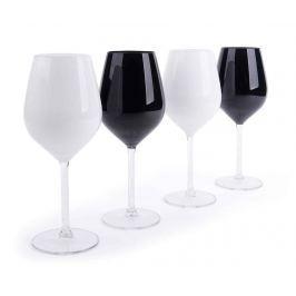 Sada 4 sklenic na víno Black & White 500 ml