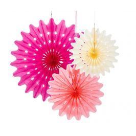 Sada 3 závěsných dekorací Fan Blossom