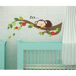 Samolepka Sleeping Monkey on Branch