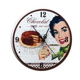 Nástěnné hodiny Chocolat au Lait