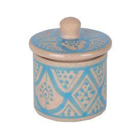 Dekorační nádoba s víkem Marroqui Turquoise