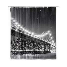 Sprchový závěs s LED diodami Bridge 180x200 cm