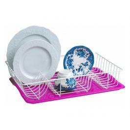 Odkapávač na nádobí s tácem Printol Pink