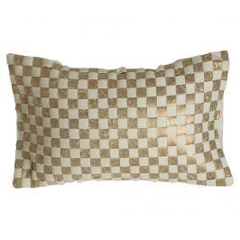 Dekorační polštář Ken Check Gold 34x60 cm